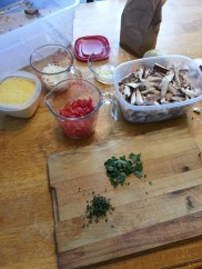 Gathering my ingredients